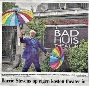 barrie stevens at mike's Badhuistheater amsterdam